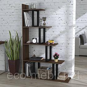 Стелаж приставний для дому чи офісу L-160 Loft Design Чорний Матовий / Горіх Модена