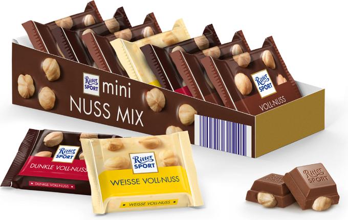 Набір міні-шоколад Ritter Sport Mini Nuss Mix 150 р. Німеччина