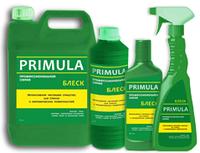 Высококонцентрированное щелочное средство для удаления жиров на основе органических растворите PRIMULA «Блеск»