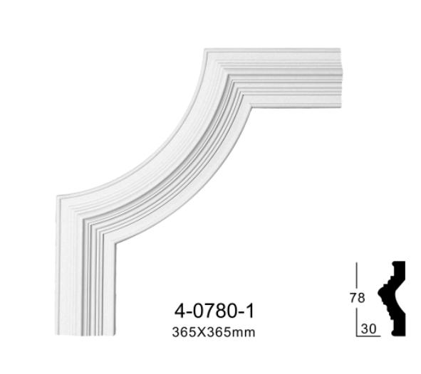 Угловой элемент Classic Home 4-0780-1 , лепной декор из полиуретана 356*365