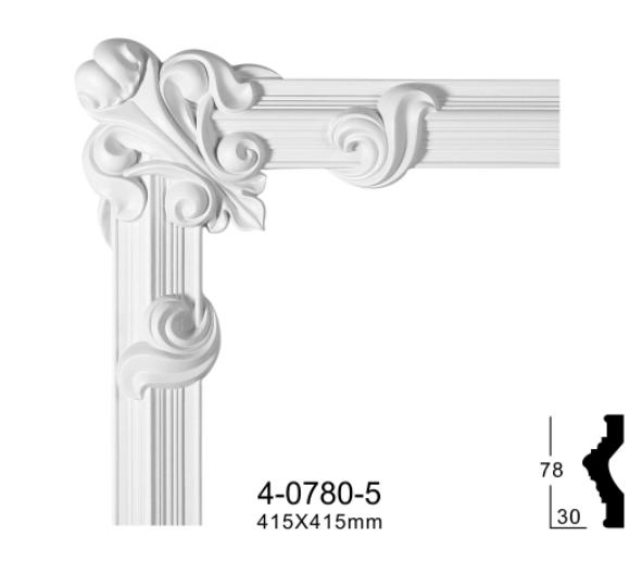 Кутовий елемент Classic Home 4-0780-5 , ліпний декор з поліуретану 415*415