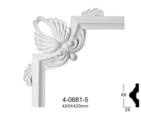 Угловой элемент Classic Home 4-0681-5 , лепной декор из полиуретана 420*420