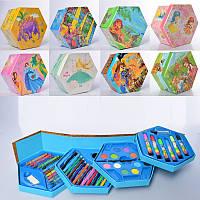 Набор для творчества, 4 яруса, фломастеры, карандаши, акварельные краски, 46 предметов, 8 видов, MK3223