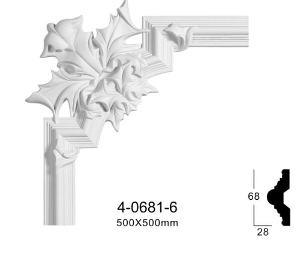 Угловой элемент Classic Home 4-0681-6 , лепной декор из полиуретана 500*500