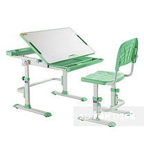 Комплект парта + стілець трансформери Cubby DISA GREEN, фото 3