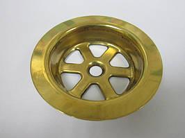 Сетка  в цвете золото на сифон (диаметр 70 мм). Oптом