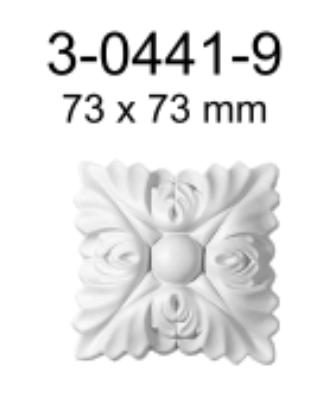 Угловой элемент Classic Home 3-0441-9 , лепной декор из полиуретана 73*73