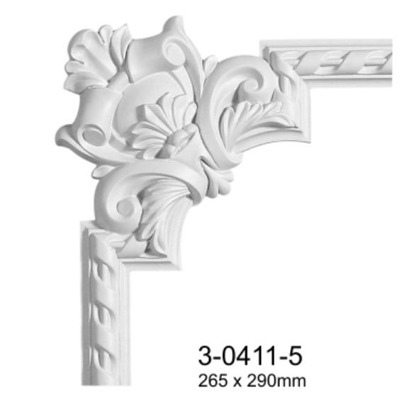 Угловой элемент Classic Home 3-0411-5 , лепной декор из полиуретана 265*290