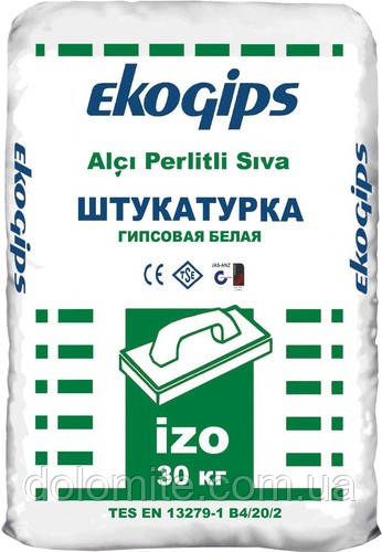 Штукатурка стартова ізогіпс Екогіпс 25 кг