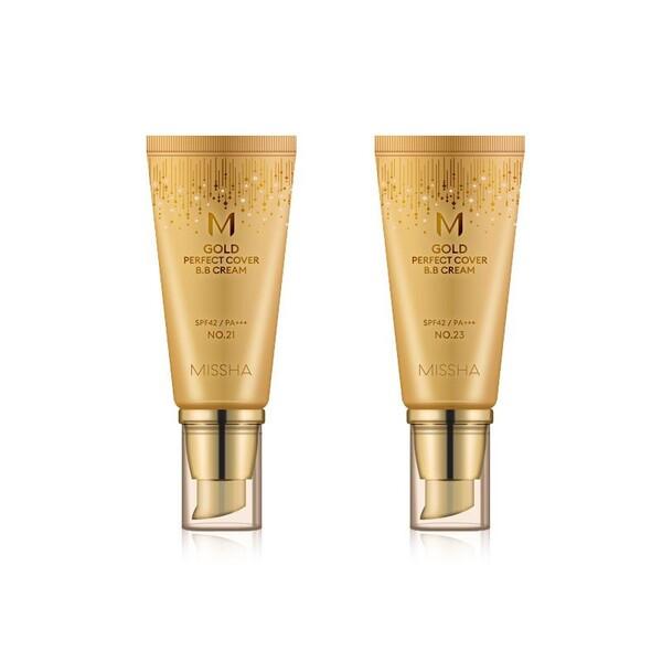 ВВ-крем с идеальным бархатным покрытием Missha m gold perfect cover b.b cream, 50 мл