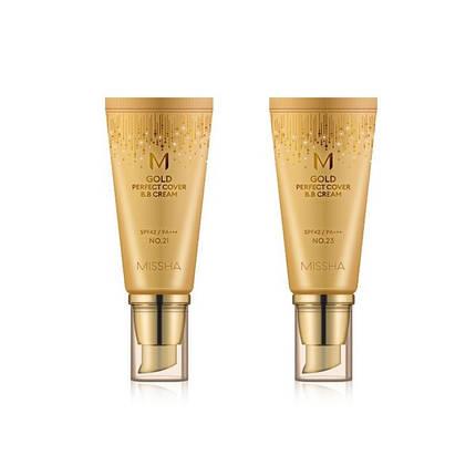 ВВ-крем с идеальным бархатным покрытием Missha m gold perfect cover b.b cream, 50 мл, фото 2