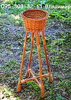 """Подставка для цветов """"Башня из лозы на одну чашу"""", фото 1"""