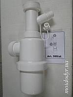 Сифон для кухонной мойки бутылочного типа 40 мм max (Италия), фото 1