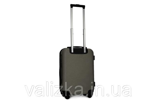 Пластиковый чемодан на 4-х колесах Fly ручная кладь, размер S серый, фото 2