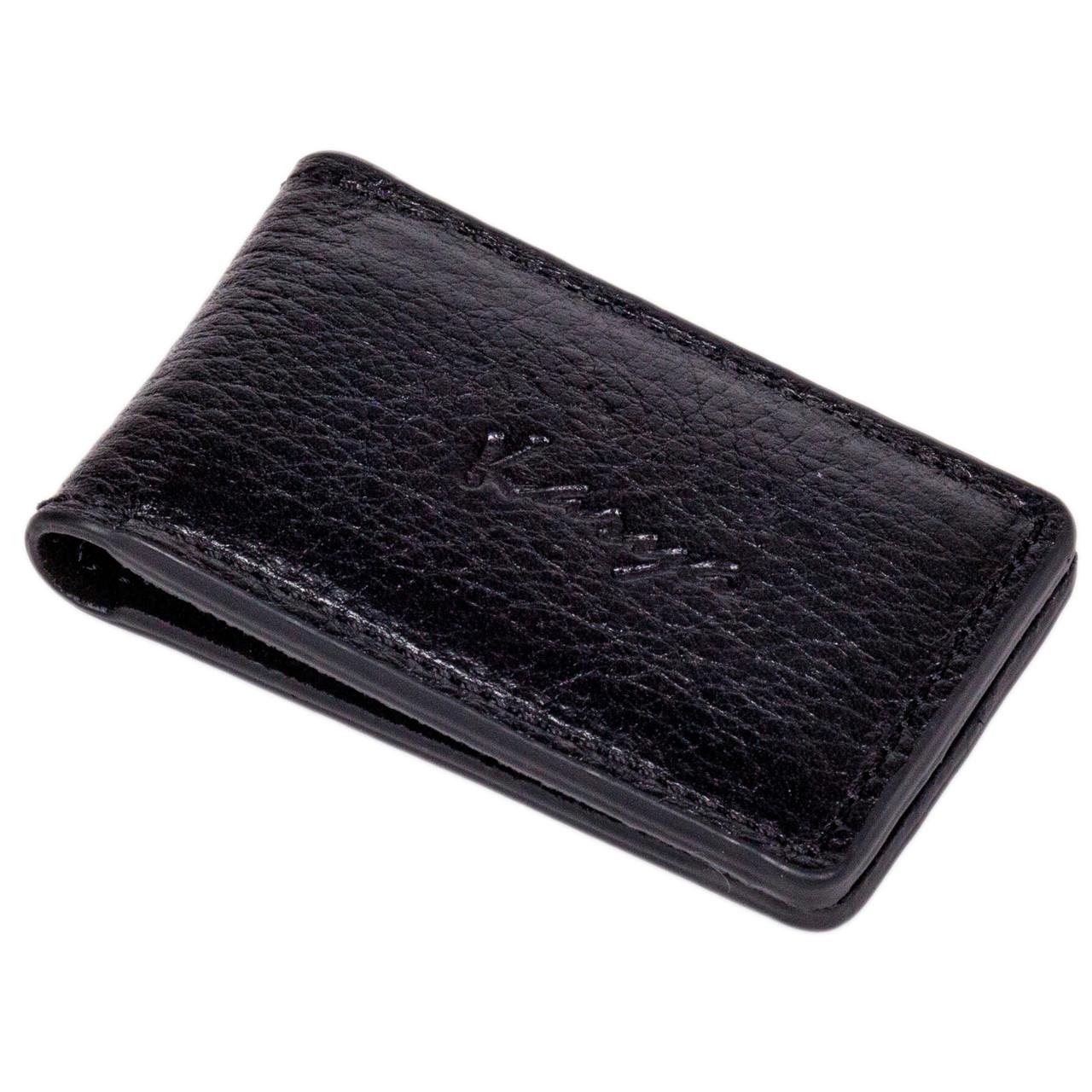 Зажим на магнитах Karya 106-45 кожаный черный
