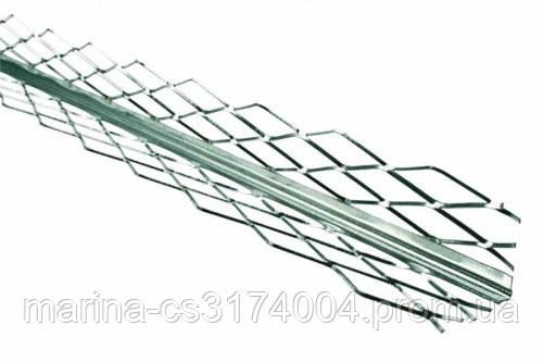 Уголок для мокрой штукатурки оцинкованный (0.4мм) 3м