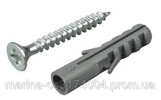 Дюбель с шурупом 6х80 мм 100шт,  (потайн) Стандарт О