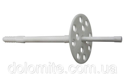 Дюбель 10х220 с пластиковым гвоздем, с удлин.распором для теплоизоляции  50шт  Премиум О