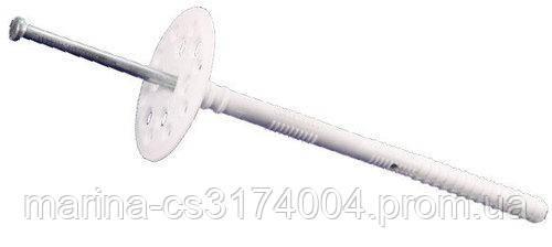 Дюбель 10х220 с металлическим гвоздем и термозаглушкой, удлин.распор, для теплоизоляции 50шт (80 мм) Премиум О