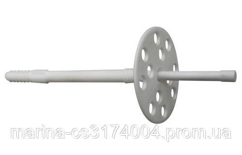 Дюбель 10х110 с пластиковым гвоздем для теплоизоляции  100шт (60мм) Премиум О