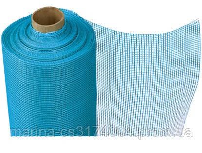 Штукатурна сітка 160г/м2 Мастерпласт Синя, 5ммх5мм, рулон 1м*50м