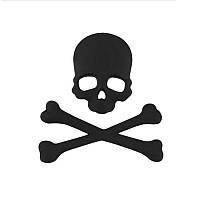 3D эмблема Череп с костями - черный, фото 1