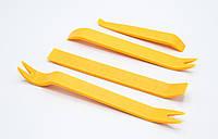 Набор инстр. для снятия обшивок  (4шт/желтый/блистер) / HF-010