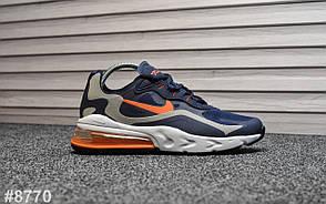 Мужские кроссовки Nike Air Max 270 react Blue Orange