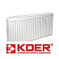 Стальной Панельный Радиатор Koer 500x400 Нижнее Подключение Термоклапан, фото 7