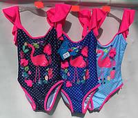 Детский цельный купальник в горошек, р. 2-8 лет