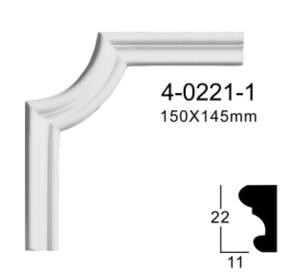 Угловой элемент Classic Home 4-0221-1 , лепной декор из полиуретана 150*145