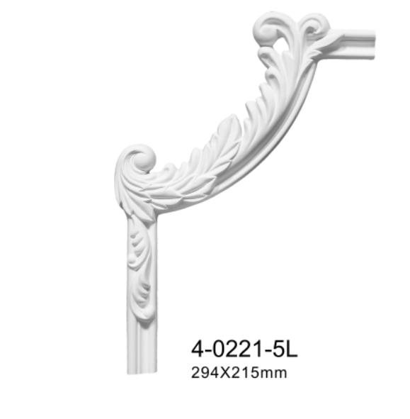 Угловой элемент Classic Home 4-0221-5L/R , лепной декор из полиуретана 294*215