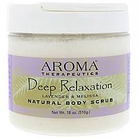 Abra Therapeutics, Натуральный скраб для тела, глубокая релаксация, лаванда и мелисса, 510 г