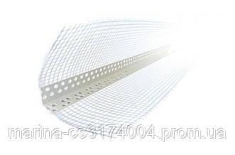 Уголок перфорированный пластиковый с сеткой 3,0м (10х10см) 145г/м2