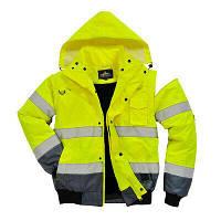 Зимова світловідбиваюча куртка Portwest C465 3в1, жовтий/чорний, фото 1
