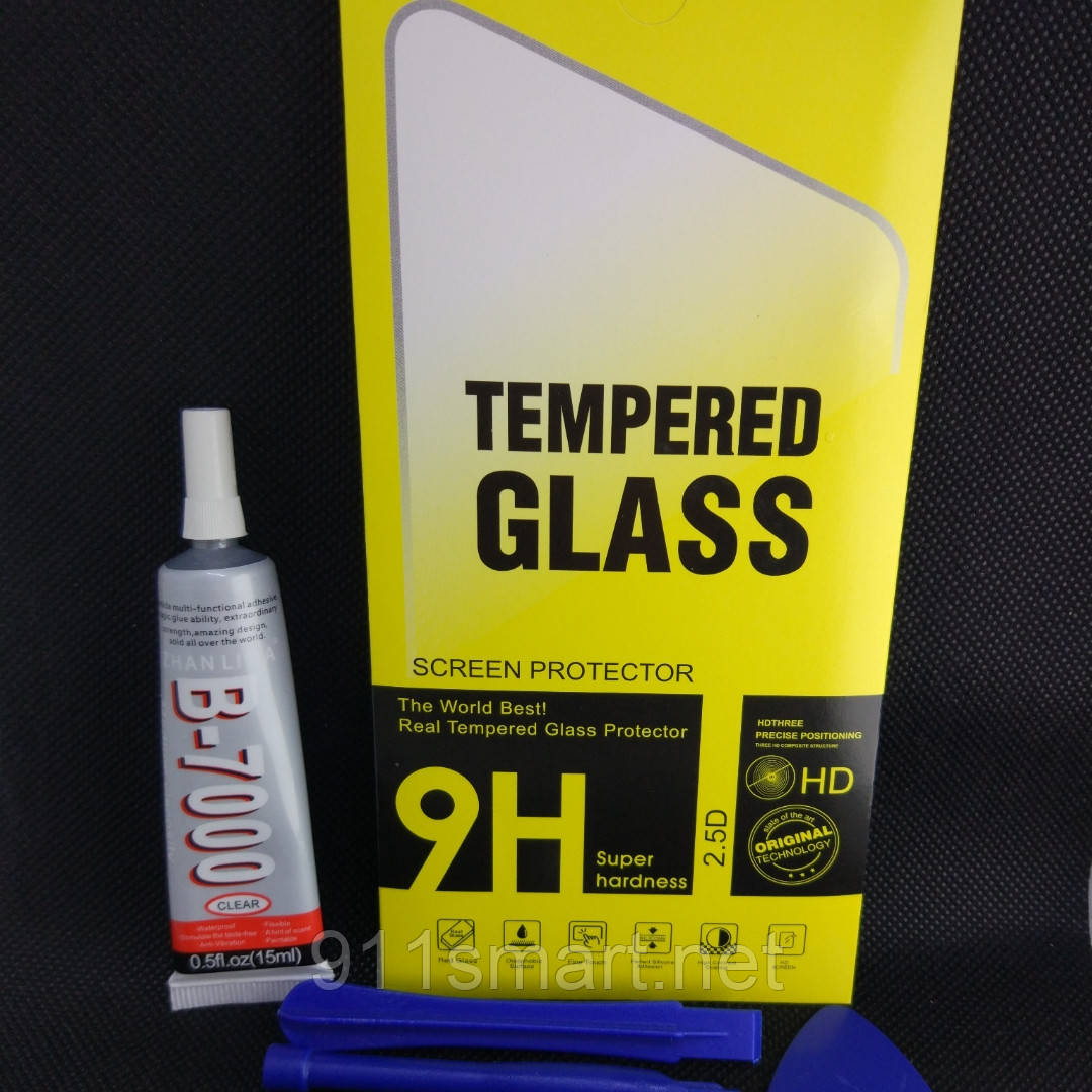 Защитное стекло Samsung Galaxy J7, J710f, J710 fnклей, инструмент
