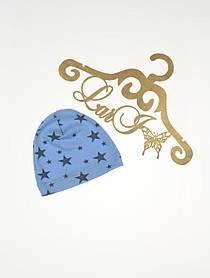 """Детская летняя шапочка """"Звездопад"""", голубая"""