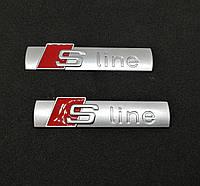 3D эмблема S-LINE - Цвет серебро матовое, фото 1