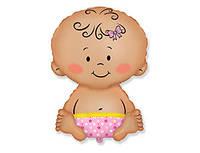 """Фольгированный шар на выписку девочки из роддома """"малышка"""" с гелием"""