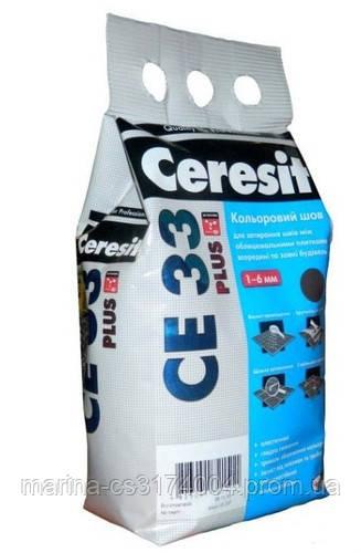 Затирка для швов Ceresit СЕ33plus 121 светлый беж 2кг