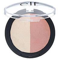 E.L.F. Cosmetics, Запеченный хайлайтер и румяна, золотисто-розовый оттенок, 0,18 унц. (5 г)