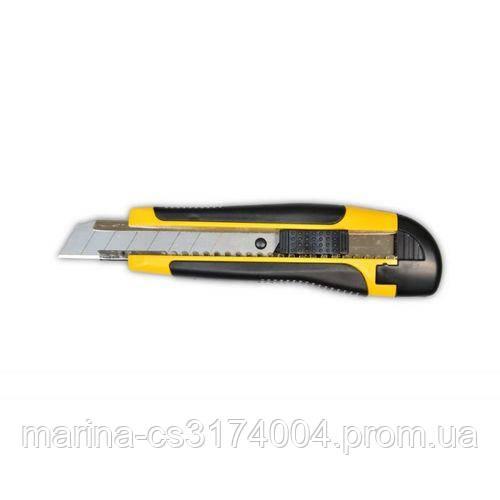 Нож с резиновой ручкой  18мм