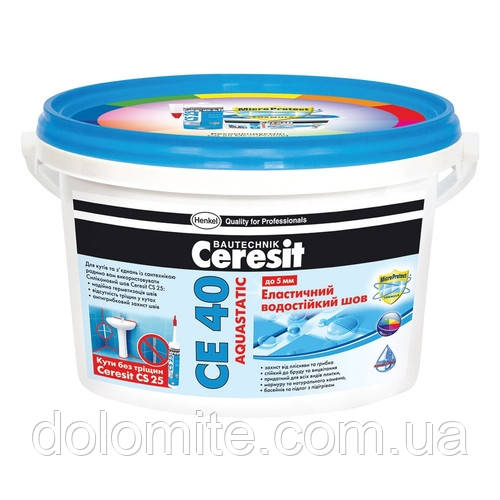 Затирка для швів Ceresit СЕ40 світло-сірий 5кг
