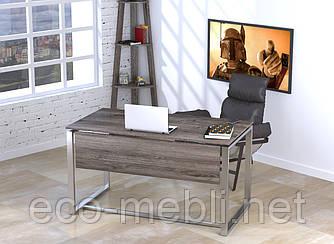 Письмовий стіл для дому та офісу Q-135 Loft Design Хром / Дуб Палєна