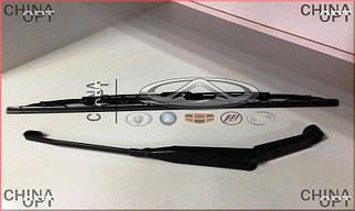 Поводок / рычаг стеклоочистителя левый, с щеткой, Geely CK1F [с 2011г.], 1702045180, Aftermarket