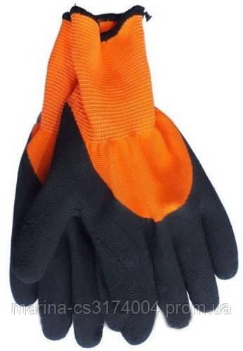 Перчатки оранжево-черные латекс