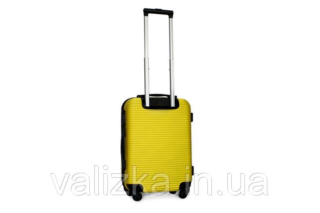 Пластиковый чемодан на 4-х колесах Fly ручная кладь размер S  желтый, фото 2