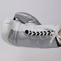 Перчатки боксерские кожаные на шнуровке TWIN BO-0279-S, фото 3