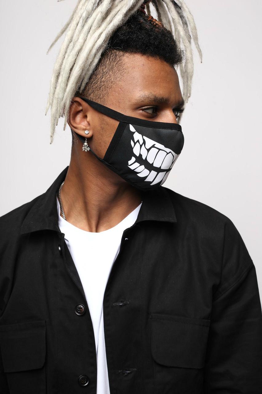 Маска для лица черная Джокер от бренда ТУР, фото 1