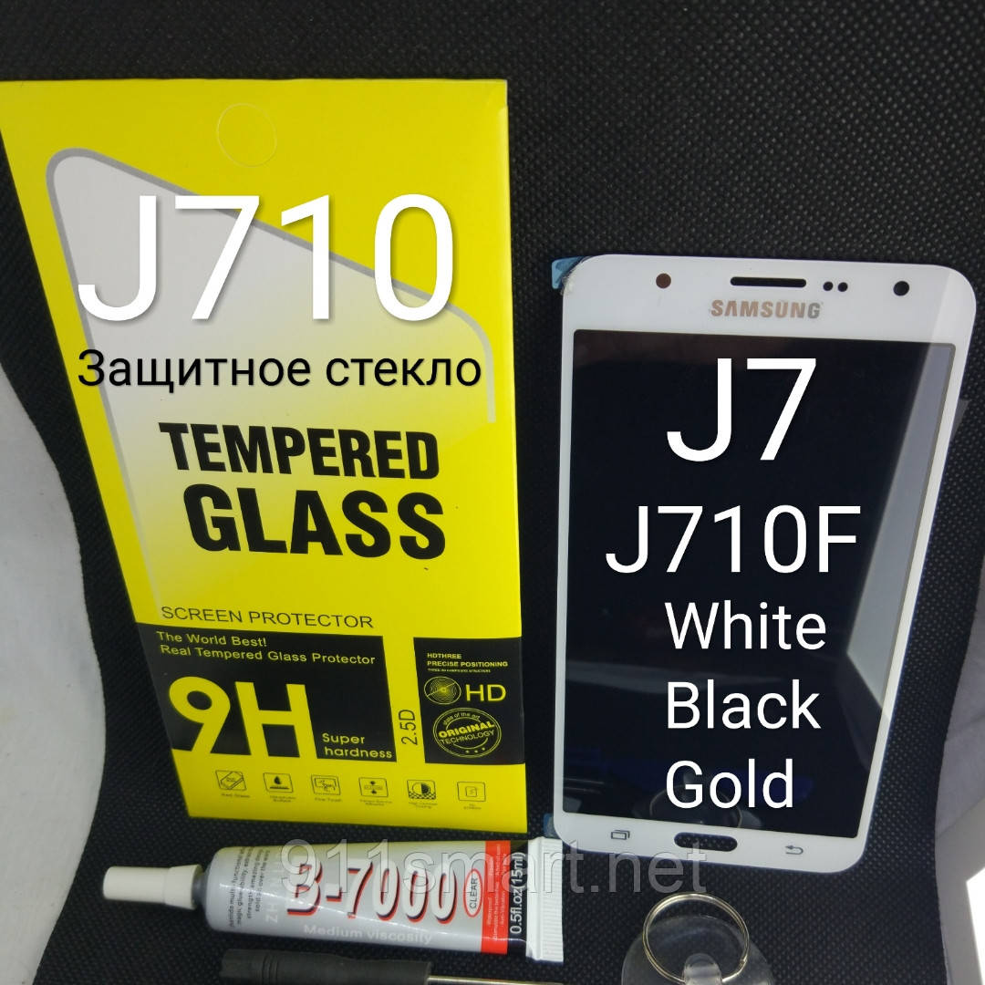 Модуль, тачскрин, сенсор Samsung Galaxy j7, j710  2016 год белый